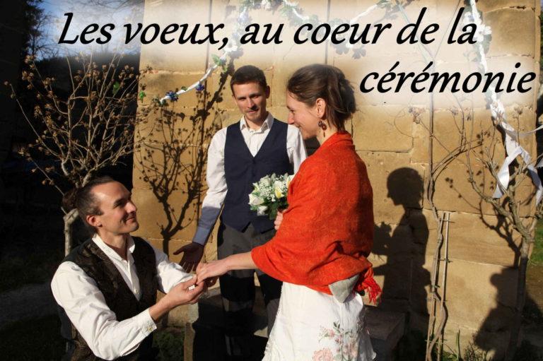 Cérémonie mariage laïque voeux